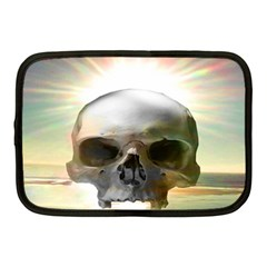 Skull Sunset Netbook Case (medium)  by icarusismartdesigns