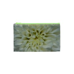 White Flowers Cosmetic Bag (xs) by timelessartoncanvas