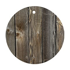 Wood Fence Ornament (round)
