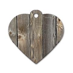 Wood Fence Dog Tag Heart (one Side)