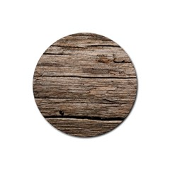 Weathered Wood Rubber Round Coaster (4 Pack)