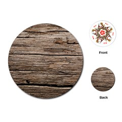 Weathered Wood Playing Cards (round)