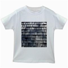 Weathered Shingle Kids White T Shirts