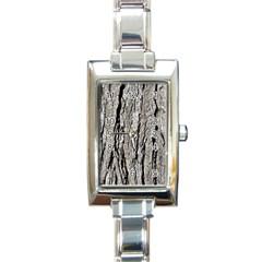 Tree Bark Rectangle Italian Charm Watches
