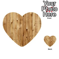 Light Wood Fence Multi Purpose Cards (heart)  by trendistuff