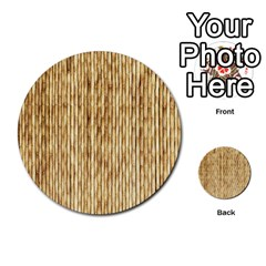 Light Beige Bamboo Multi Purpose Cards (round)  by trendistuff