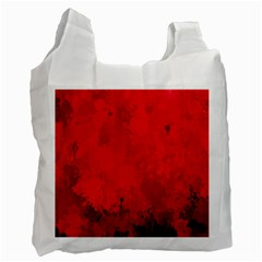 Splashes Of Color, Deep Red Recycle Bag (two Side)  by MoreColorsinLife