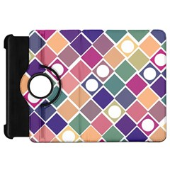 Dots And Squares Kindle Fire Hd Flip 360 Case by Kathrinlegg