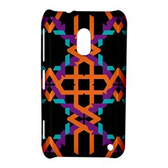 Juxtaposed Shapes Nokia Lumia 620 Hardshell Case by LalyLauraFLM