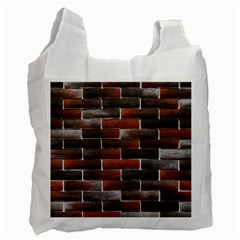 Red And Black Brick Wall Recycle Bag (one Side) by trendistuff