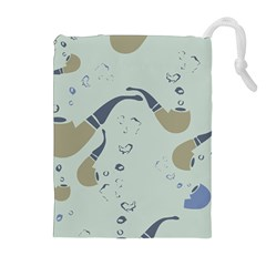 Smoke Pipe Drawstring Pouch (xl) by typewriter