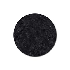 Black Marble Rubber Round Coaster (4 Pack)  by trendistuff