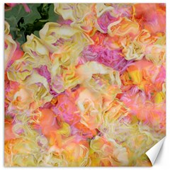 Soft Floral,roses Canvas 16  X 16   by MoreColorsinLife