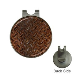 Rusty Metal Pattern Hat Clips With Golf Markers by trendistuff
