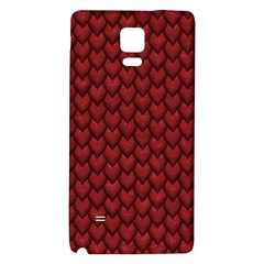 Red Reptile Skin Galaxy Note 4 Back Case by trendistuff