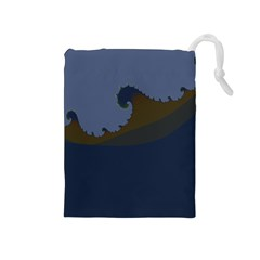 Ocean Waves Drawstring Pouches (medium)  by theunrulyartist