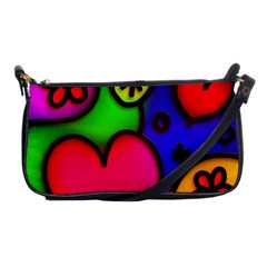 Colorful Modern Love 2 Shoulder Clutch Bags by MoreColorsinLife