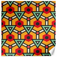 Triangles And Hexagons Pattern Canvas 20  X 20  by LalyLauraFLM