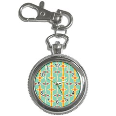 Rhombus Pattern In Retro Colors 			key Chain Watch by LalyLauraFLM