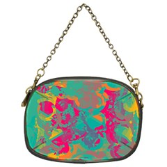 Fading Circles 	chain Purse (two Sides) by LalyLauraFLM