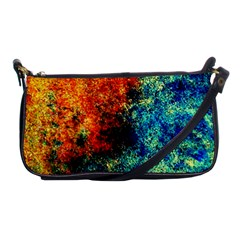 Orange Blue Background Shoulder Clutch Bags