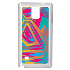 Distorted Shapes			samsung Galaxy Note 4 Case (white) by LalyLauraFLM