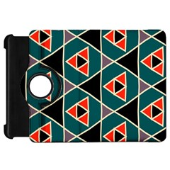 Triangles In Retro Colors Pattern			kindle Fire Hd Flip 360 Case by LalyLauraFLM