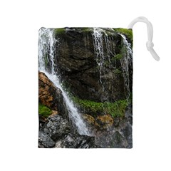 Waterfall Drawstring Pouches (large)  by trendistuff