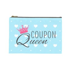 Coupon Queen Cosmetic Bag (large) by maemae