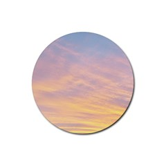 Yellow Blue Pastel Sky Rubber Round Coaster (4 Pack)  by Costasonlineshop