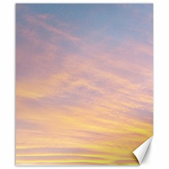 Yellow Blue Pastel Sky Canvas 20  X 24   by Costasonlineshop