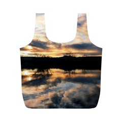Sun Reflected On Lake Full Print Recycle Bags (m)  by trendistuff