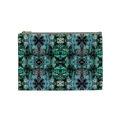 Green Black Gothic Pattern Cosmetic Bag (medium)  by Costasonlineshop