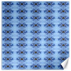 Pastel Blue Flower Pattern Canvas 20  X 20   by Costasonlineshop