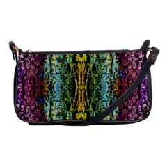 Abstract, Yellow Green, Purple, Tree Trunk Shoulder Clutch Bags
