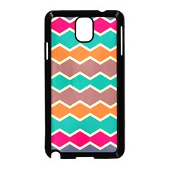 Colorful Chevrons Pattern			samsung Galaxy Note 3 Neo Hardshell Case (black) by LalyLauraFLM