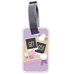 Get Lost Luggage Tag (one Side) by typewriter