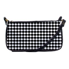 Black And White Scallop Repeat Pattern Shoulder Clutch Bags by PaperandFrill