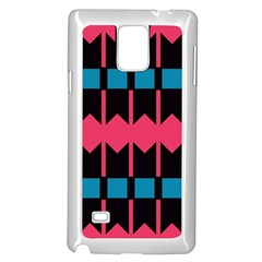 Rhombus And Stripes Pattern			samsung Galaxy Note 4 Case (white) by LalyLauraFLM