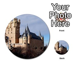 Segovia Castle Multi Purpose Cards (round)  by trendistuff