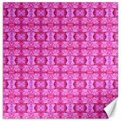 Pretty Pink Flower Pattern Canvas 20  X 20   by Costasonlineshop