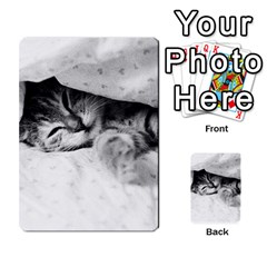 Sleepy Kitty Multi Purpose Cards (rectangle)  by trendistuff