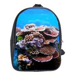 Coral Outcrop 2 School Bags (xl)  by trendistuff