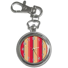 Stripes And Other Shapes			key Chain Watch by LalyLauraFLM
