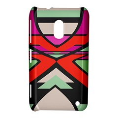 Shapes In Retro Colors			nokia Lumia 620 Hardshell Case by LalyLauraFLM