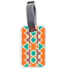 Rhombus Triangles And Other Shapes			luggage Tag (one Side) by LalyLauraFLM