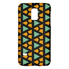Green Triangles And Other Shapes Pattern			samsung Galaxy S5 Mini Hardshell Case by LalyLauraFLM