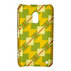 Squares And Stripes 			nokia Lumia 620 Hardshell Case by LalyLauraFLM
