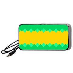 Green Rhombus Chains Portable Speaker