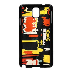 Distorted Shapes In Retro Colors 			samsung Galaxy Note 3 Neo Hardshell Case (black) by LalyLauraFLM